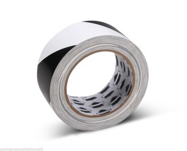 "Black/White Floor Marking PVC Safety Tapes 2"" x 36 Yds 7 Mil 24 Rolls - $67.47"