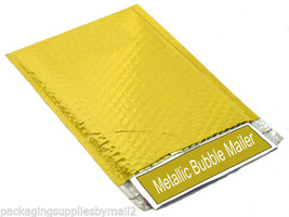 "200 Gold Metallic Bubble Mailers Glamour Envelope Free Shipping 13.75"" x... - $201.59"
