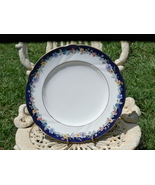 Nikko Sedgemere Dinner Plate Liberty Fine Bone China, Blue Rim with Flow... - $9.99
