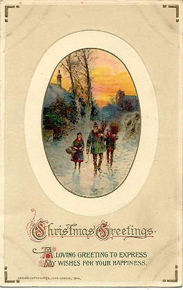 Christmas Greetings Vintage John Winsch Published Post Card