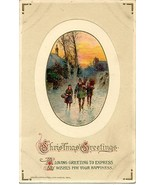 Christmas Greetings Vintage John Winsch Published Post Card - $3.00