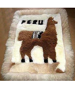 Motive Alpaca fur rug from Peru,carpet 35 x 23 ... - $103.00