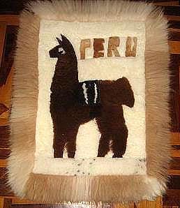 Motive Alpaca fur rug,carpet of 35.4 x 23.6 Inches