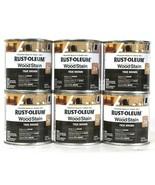 6 Cans Rust-Oleum 8 Oz Ultimate Wood Stain 330116 True Brown Dries In 1 ... - $24.99