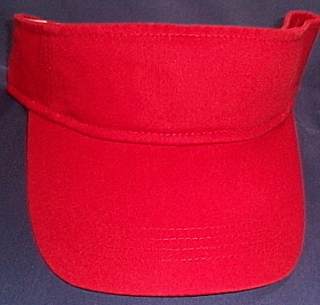 Unisex NWOT Anvil Red Visor Cap