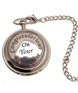 Pocket watch - Solid pewter fronted mechanical skeleton pocket watch - R... - $117.60