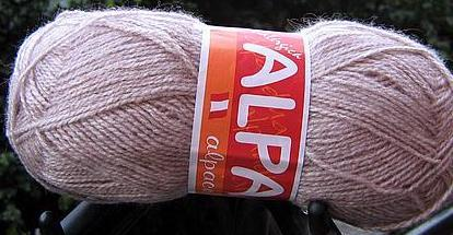 1.1 pound of light rosa Alpacawool, knitting wool