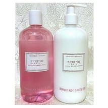 Lot of 2 NEW Crabtree & Evelyn Spring Rain Bath & Shower Gel + Lotion Se... - $39.59