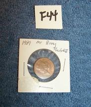 Ungraded 1989 Great Britain- Queen Elizabeth II One Penny coin - $4.00