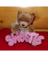 """Precious Moments Plush Brown 6"""" Sitting Bear Holds SWEETIE Felt Cut-Out ... - $6.79"""