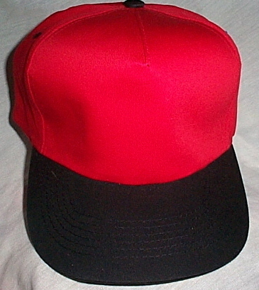 Mens NWOT 12 Each Sportsman Red with Black Brim Ball Cap