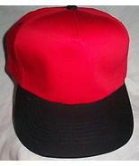 Mens NWOT 12 Each Sportsman Red with Black Brim Ball Cap - $16.95