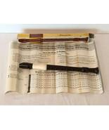 Vintage Cambridge Duranite Soprano Recorder Musical Instrument Instructi... - $19.99