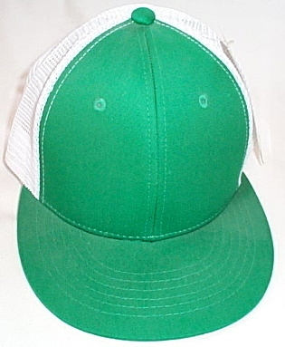 Mens NWT Magic Headwear Green White Mesh Back Ball Cap