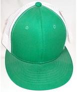 Mens NWT Magic Headwear Green White Mesh Back Ball Cap - $3.95