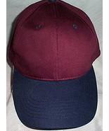 Mens NWOT Sportsman Maroon with Blue Brim Ball Cap  - $3.95