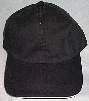Mens NWOT Falcon Black Ball Cap White Trim Brim