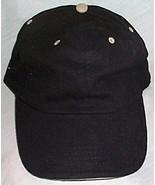 Mens NWOT Cobra Black Ball Cap Tan Trim  - $3.95