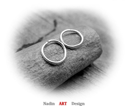 Small Sterling Silver Hoop Earrings. Hoops for Cartilage, Helix, Tragus ... - $15.00