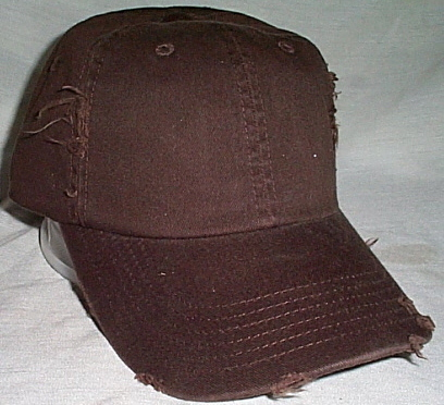 Mens NWOT District Theads Destressed Brown Ball Cap