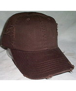 Mens NWOT District Theads Destressed Brown Ball Cap  - $3.95