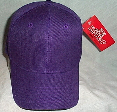 Boys Kidz Kap NWT Purple Ball Cap