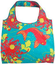 En V Bags Lucky Koi Fish 100% Water Resistant Reusable Grocery Tote Bag ... - $12.99