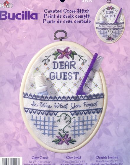 Dear Guest Accessory Holder Cross Stitch Kit