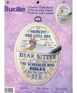 Dear Sitter Note Holder Cross Stitch Kit - $12.00