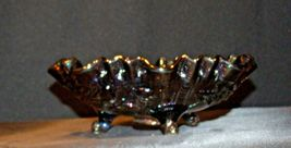 Imperial Hand Crafted Purple Carnival Glass 3 Footed Candy Dish Bowl AA19-CD0039 image 8