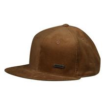 Corduroy Metallic Emblem Hat by LET'S BE IRIE - Brown Snapback - £16.59 GBP