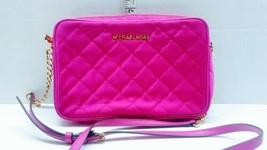 Michael kors crossbody bag used Pink Retired Nylon Nice NS-1605 - $60.00