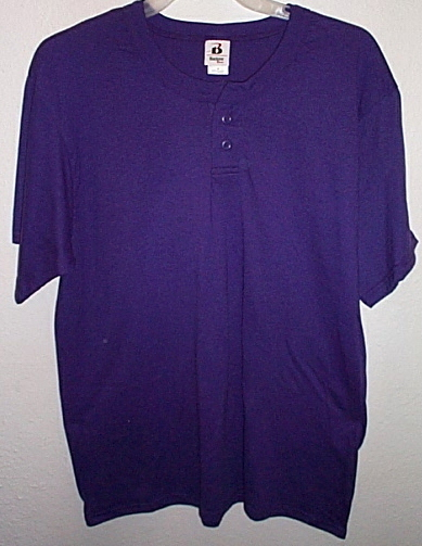 Mens NWOT Badger Sports Short Sleeve Purple T Shirt Size M