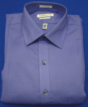 Van Heusen Ice Lilac Stripe Regular Fit Long Sleeve Dress Shirt  Size 15... - $15.95