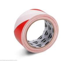 "Aisle Marking Safety Red/White Tape 2"" x 36 Yrds 7 Mil 24 Rolls - $67.47"