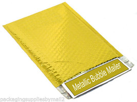 """500 13.75"""" x 11"""" Gold Metallic Bubble Mailers Envelope Bags 13.75 x 11 Inch - $476.74"""