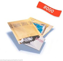 Kraft Bubble Mailers Padded Shipping Bags 4x8 #000 Self Seal 5000 / Cs - $421.87