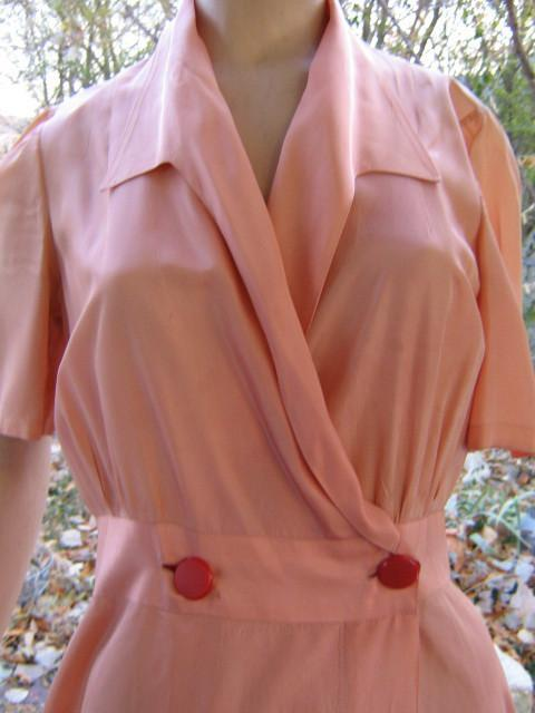 Hollywood Glam Vintage 40s Satin Dressing gown Robe Dress S