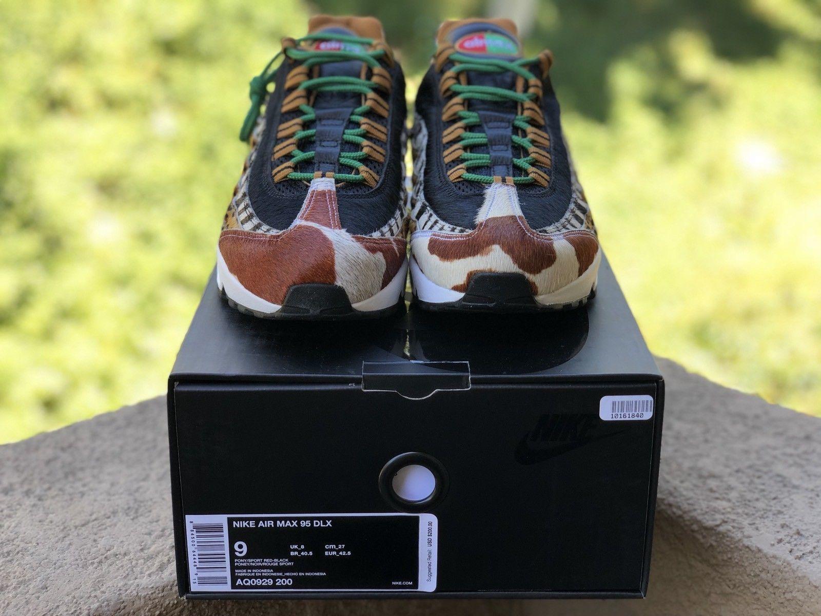 size 40 8b542 52299 ... Nike Air Max 95 DLX Animal Pack 2.0 Safari Atmos Size US Mens 9 AQ0929-  ...