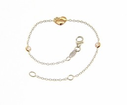 18K ROSE & WHITE GOLD BRACELET FOR KIDS WITH HEART AND ZIRCONIA MADE IN ITALY image 1