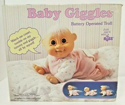 Vtg Russ Troll Doll Baby Giggles Crawling Baby For Parts Only Not Workin... - $29.69