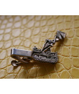 Vintage Drott excavator construction gold tone tie pin clasp clip preloved - $16.99
