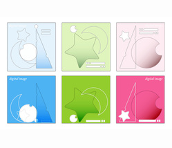 *Astronomy 6 Panels* Abstract Digital Illustration JPEG Image Download - $14.65