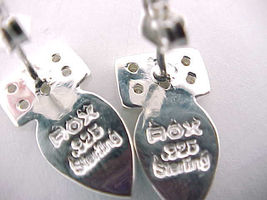 Designer ROX Sterling Silver Drop EARRINGS with TURQUOISE, Opal inlay and CZs image 3