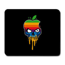 Apple Mac Silver Skull Rainbow Multicolor Logo Mousepad Mouse Pad Mouse Mat - $151,07 MXN