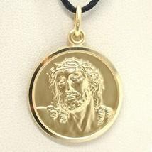 CIONDOLO MEDAGLIA ORO GIALLO 750 18K, VOLTO DI CRISTO, ECCE HOMO, JESUS image 1
