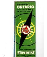 Ontario Canada (Vintage 1952) Map - $3.25