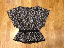 Women's Apostrophe Polyester Lace Top  Full Lin... - $26.17
