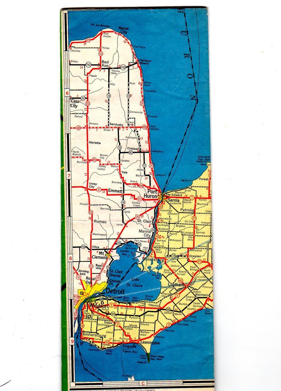 Ontario Canada (Vintage 1952) Map