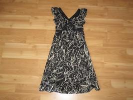 Women's INC International Concepts Dress 100% Silk Ruffle Hem Size: 2 Pe... - $28.04